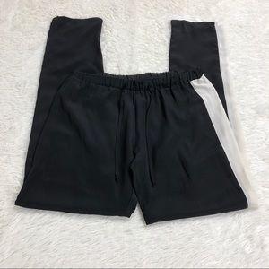 LNA LOS ANGELES 100% Silk Track Pants Sz XS